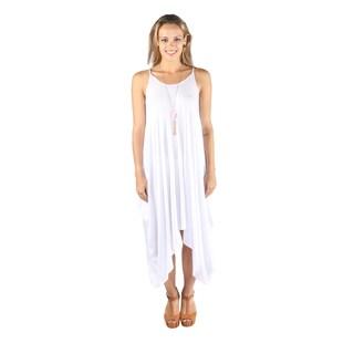 Hadari Women Round Neck Spaghetti Strap Long Dress