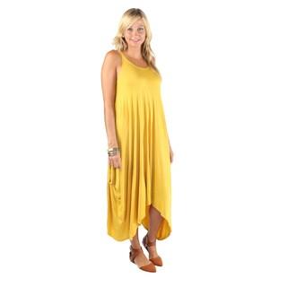 Hadari Women Sleeveless Round Neck Long Dress