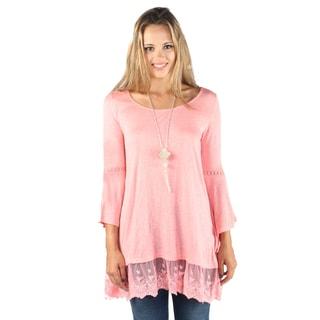 Hadari Women 3/4 Sleeve Round Neck Shirt