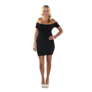 Hadari Women Off The Shoulder Sheat Short Dress
