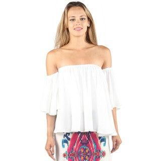 Hadari Women Off the Shoulder 3/4 Sleeve Blouse