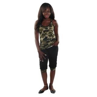 Hadari Women's Camaflouge Tank Top and Sports Pants (2 Pices Set)