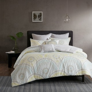 Urban Habitat Nicolette Yellow Printed 7-piece Duvet Cover Set
