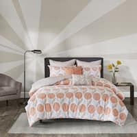 Palm Canyon Cameo Coral Cotton 7-piece Printed Duvet Cover Set