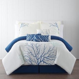 Panama Jack Coral Blue Embroidered 7-piece Comforter Set