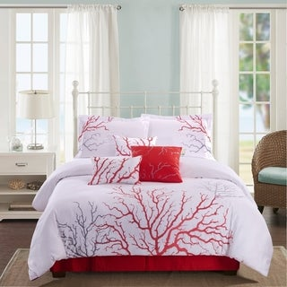 Panama Jack White Coral Embroidered 7-piece Comforter Set