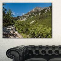 Tourist Trail in High Mountains - Landscape Art Print Canvas - Multi-color