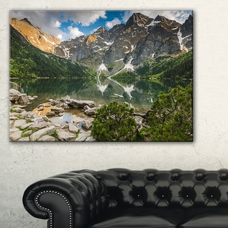 Sunset Over High Mountains - Landscape Art Print Canvas
