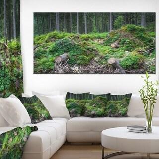 Wild Deep Forest Rocks and Hills - Landscape Art Print Canvas