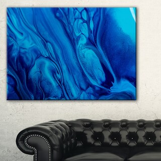 Dark Blue Abstract Acrylic Paint Mix - Abstract Art on Canvas - multi