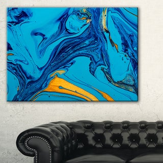 Soft Blue Abstract Acrylic Paint Mix - Abstract Art on Canvas