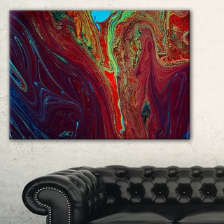 Dark Red Abstract Acrylic Paint Mix - Abstract Art on Canvas