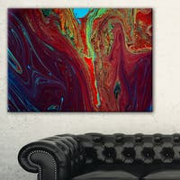 Dark Red Abstract Acrylic Paint Mix - Abstract Art on Canvas - multi