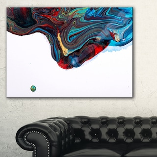 Multi Color Abstract Acrylic Paint Mix Abstract Art On Canvas Overstock 12209535