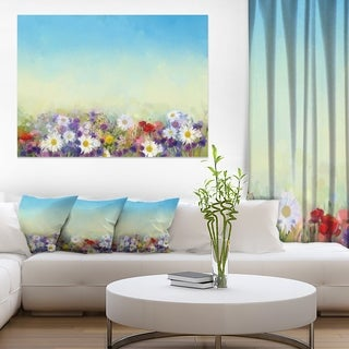 Soft Flowers in Spring Background - Large Floral Wall Art Canvas