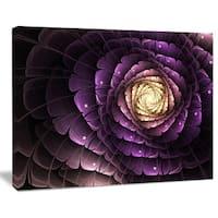 Fractal Flower Light Purple Digital Art - Large Flower Canvas Wall Art