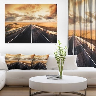 Road through Desert Panorama - Extra Large Wall Art Landscape