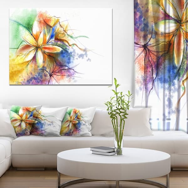 Shop Abstract Multi Color Flower Fusion Large Flower