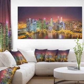 Singapore Skyline View of Marina Bay - Cityscape Canvas print