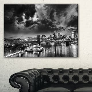 Amazing Night in New York City - Cityscape Canvas print - Blue