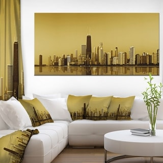 Chicago Gold Coast with Skyscrapers - Cityscape Canvas print