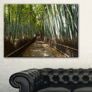 Wide Pathway in Bamboo Forest - Forest Canvas Wall Art Print