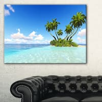 Corals Island under Blue Sky - Seashore Canvas Wall Artwork