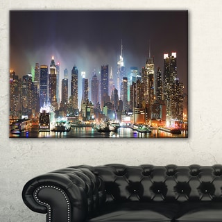 New York Times Square in Blue Light - Cityscape Canvas print