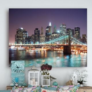New York City Manhattan Skyscrapers - Cityscape Canvas print
