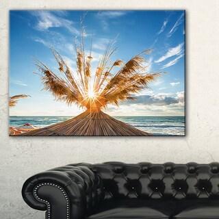 Vivid Sunrise on Sandy Beach - Seashore Canvas Wall Artwork