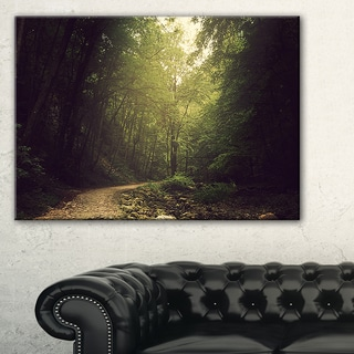 Wild Way into the Dark Forest - Large Forest Wall Art Canvas