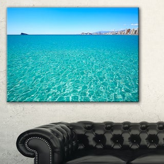 Blue Benidorm Levante Beach - Seashore Canvas Wall Artwork