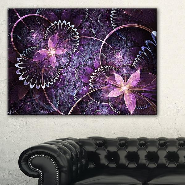 Purple Canvas Rug: Shop Fractal Flower Soft Purple Digital Art