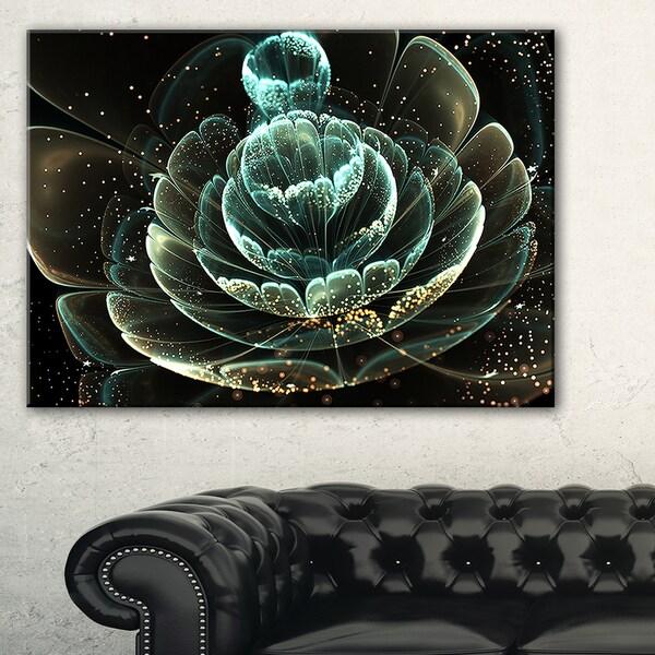 Shop Fractal Flower Light Green Digital Art