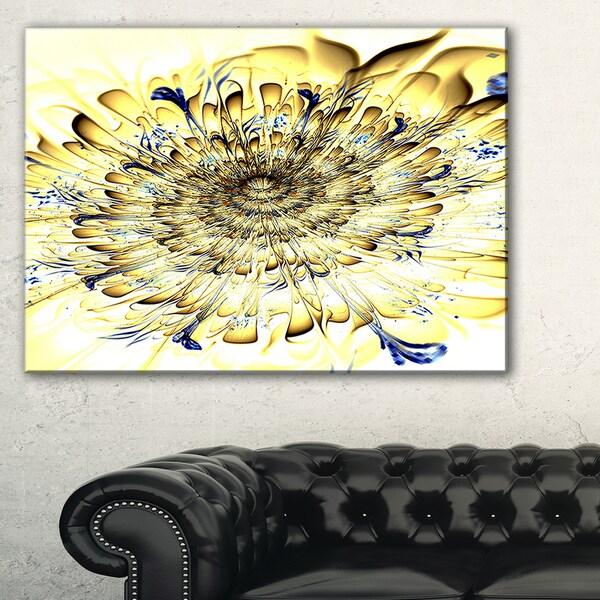 Shop Light Yellow Digital Art Fractal Flower