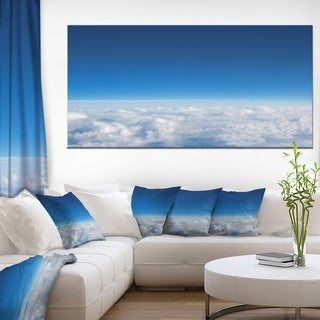 Puffy Clouds above View - Extra Large Wall Art Landscape