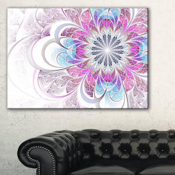 Shop Purple and Blue Large Flower Fractal - Modern Floral