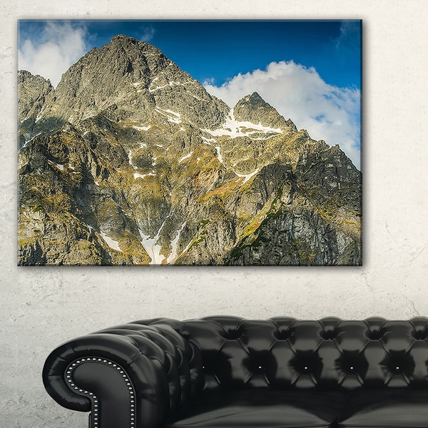Rocky Summit in Tatra Mountains - Contemporary Landscape Canvas Art
