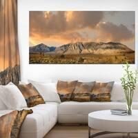 Sierra Nevada Mountain - Landscape Wall Art Canvas Print - Blue