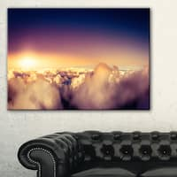 Blue Sky over Clouds Panorama - Landscape Wall Art Canvas Print