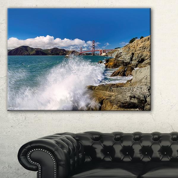 Golden Gate Bridge in San Francisco - Large Seashore Canvas Print