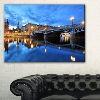 Illuminated Blue Stockholm - Cityscape Canvas print