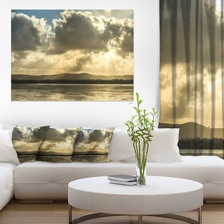 Heavy Clouds over Foreshore Reserve - Large Seashore Canvas Print