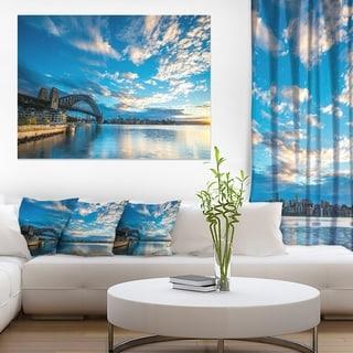 Sunrise from Sydney Harbor Bridge - Large Seashore Canvas Print