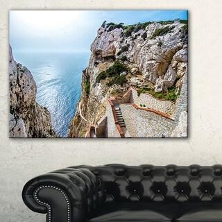 Stairway to Neptune's Grotto - Seashore Canvas Wall Artwork