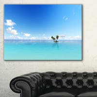 Blue Corals Island Sea - Seashore Canvas Wall Artwork