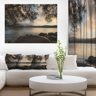 Sunrise from Hawsbury River - Large Seashore Canvas Print