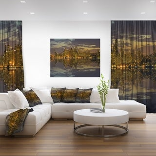 San Francisco at Sunset Panorama - Cityscape Canvas print