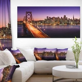 San Francisco skyline and Bay Bridge - Sea Bridge Canvas Wall Artwork