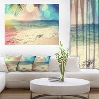 Colorful Serenity Tropical Beach - Large Seashore Canvas Print